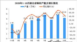 2020年10月湖北省铜材产量数据统计分析