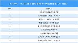 产业地产投资情报:2020年1-11月江苏省投资拿地TOP10企业排名(产业篇)