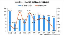 2020年11月中国食用植物油进口数据统计分析