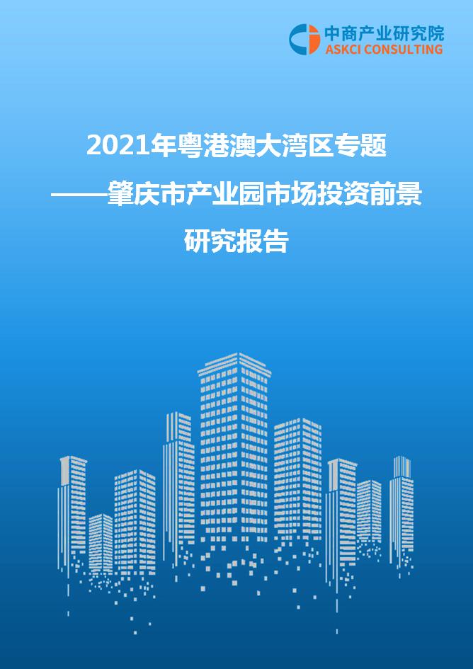 2021年粤港澳大湾区专题—— 肇庆市产业园市场投资前景研究报告