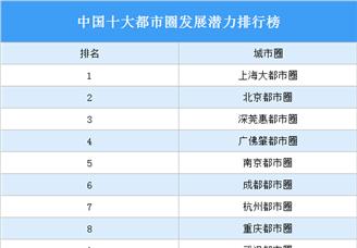2020中国十大都市圈发展潜力排行榜(附榜单)
