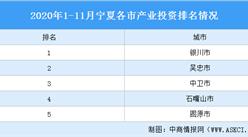 2020年1-11月宁夏各市(州)产业投资排名(产业篇)
