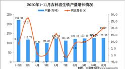 2020年11月吉林省生铁产量数据统计分析