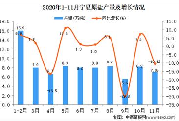 2020年11月宁夏原盐产量数据统计分析