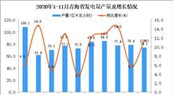 2020年11月青海省发电量产量数据统计分析