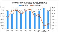 2020年11月山东省铁矿石产量数据统计分析