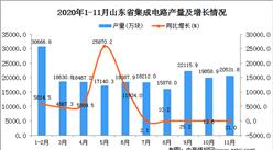 2020年11月山东省集成电路产量数据统计分析