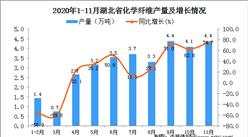 2020年11月湖北省化学纤维产量数据统计分析