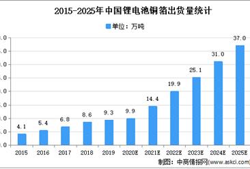 2021年中国锂电池铜箔市场现状及发展趋势预测分析