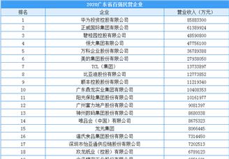 2020年广东省百强民营企业排行榜(附榜单)