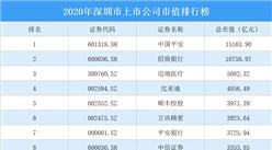 343家深圳A股上市公司2020年市值:20家上市公司市值超千亿(图)