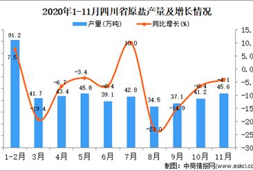 2020年11月四川省原盐产量数据统计分析