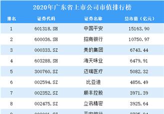 2020年广东上市公司市值排行榜(附全榜单)