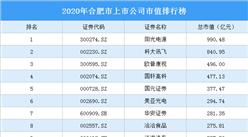 59家合肥A股上市公司2020年市值:16家上市公司市值超百亿(图)