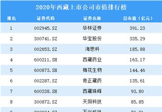 2020年西藏上市公司市值排行榜(附全榜单)