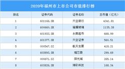 2020年福州市上市公司市值排行榜