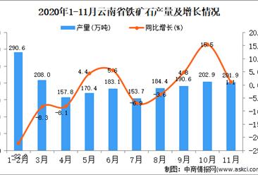 2020年11月云南省铁矿石产量数据统计分析