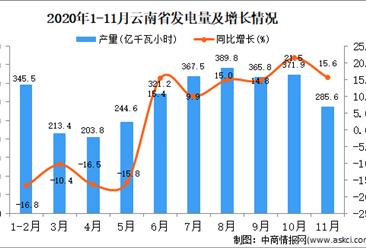 2020年11月云南省发电量数据统计分析
