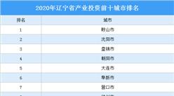 2020年辽宁省产业投资前十城市排名(产业篇)