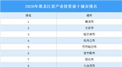 2020年黑龙江省产业投资前十城市排名(产业篇)
