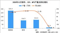 2020年1-12月中國乘用車產量1945.3萬輛 同比下滑6.2%(附車型產量)