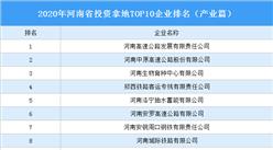 产业地产投资情报:2020年河南省投资拿地TOP10企业排名(产业篇)