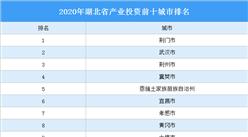 2020年湖北省产业投资前十城市排名(产业篇)