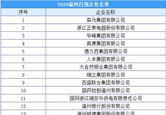 2020年温州市百强企业排行榜(附榜单)