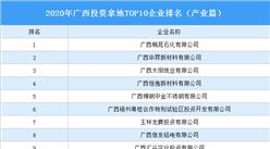 产业地产投资情报:2020年广西投资拿地TOP10企业排名(产业篇)
