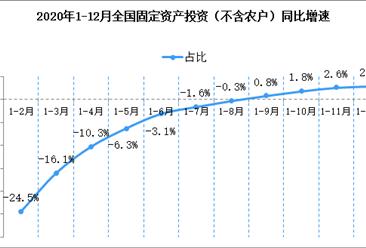 2020年1-12月份全国固定资产投资增长2.9%(附图表)