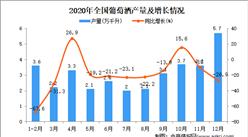 2020年中国葡萄酒产量数据统计分析