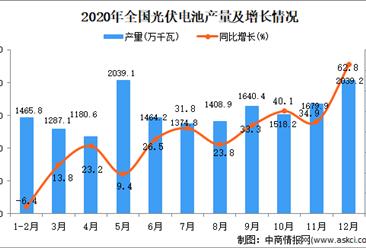 2020年中国光伏电池产量数据统计分析