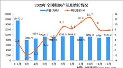 2020年中国粗钢产量数据统计分析
