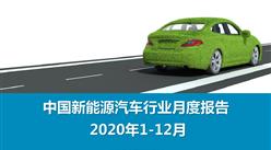 2020年1-12月中国新能源汽车行业月度报告(完整版)
