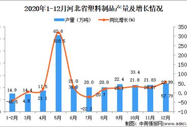 2020年12月河北省塑料制品产量数据统计分析