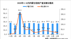 2020年12月内蒙古铝材产量数据统计分析