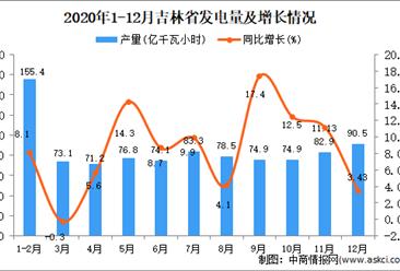 2020年12月吉林省发电量数据统计分析