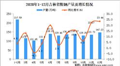2020年12月吉林省粗钢产量数据统计分析