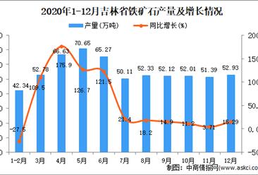 2020年12月吉林省铁矿石产量数据统计分析