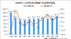 2020年12月黑龙江省粗钢产量数据统计分析