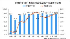 2020年12月黑龙江省交流电动机产量数据统计分析