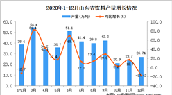 2020年12月山东省饮料产量数据统计分析
