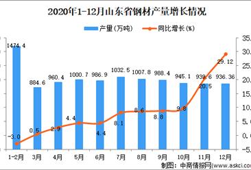 2020年12月山东省钢材产量数据统计分析
