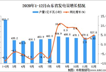 2020年12月山东省发电量数据统计分析