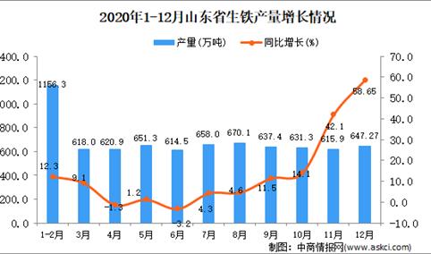2020年12月山东省生铁产量数据统计分析