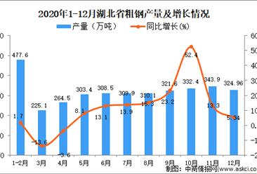 2020年12月湖北省粗钢产量数据统计分析