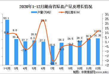 2020年12月湖南省原盐产量据统计分析