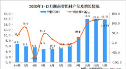 2020年12月湖南省铝材产量据统计分析