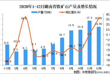 2020年12月湖南省铁矿石产量据统计分析