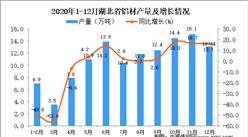 2020年12月湖北省铝材产量数据统计分析